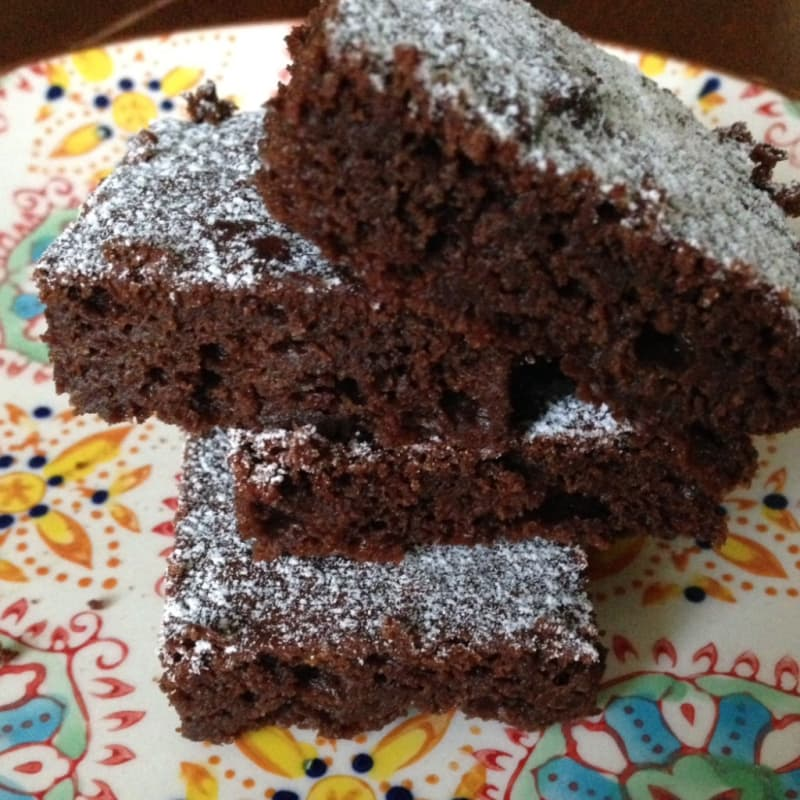 Brownies de chocolate y aguacate
