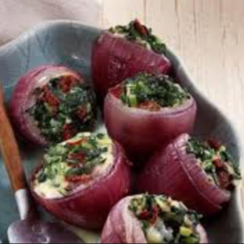 Cebollas rojas al horno