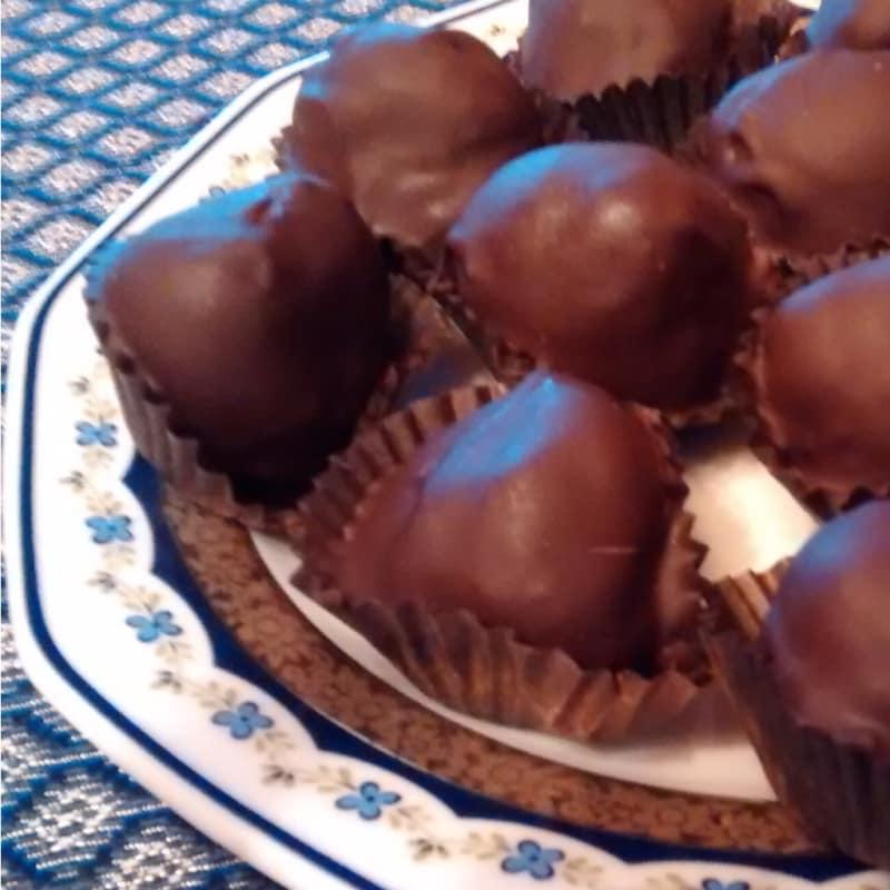 bolas de chocolate y nocelline
