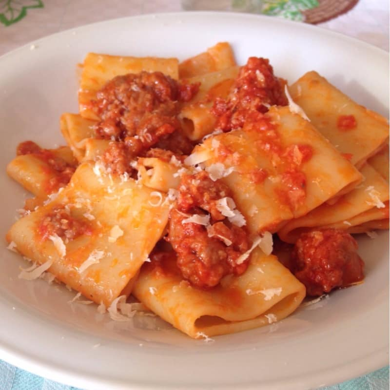 Paccheri with pink sauce