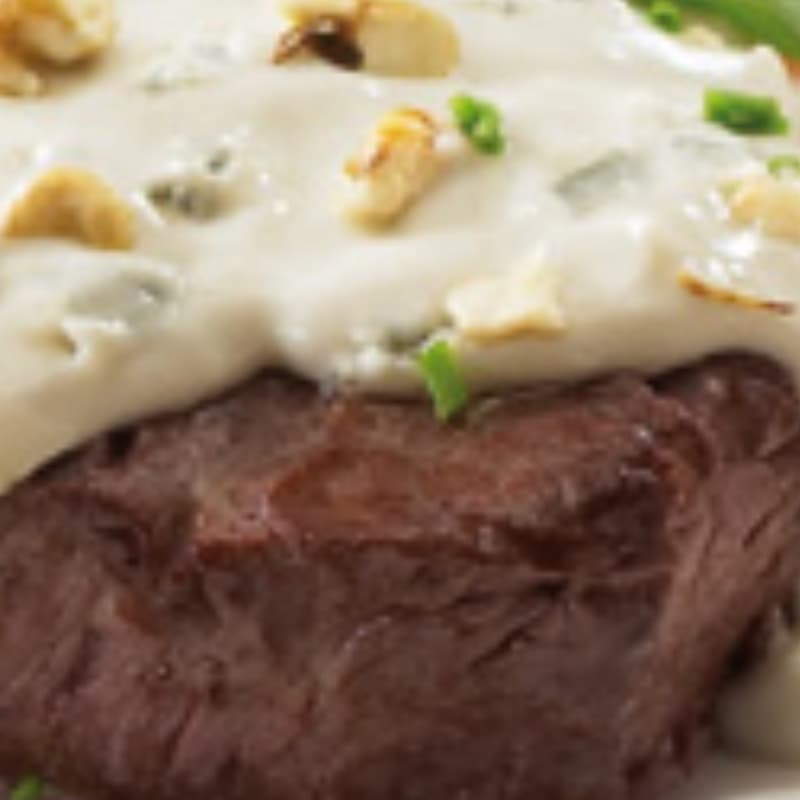Filete de ternera con gorgonzola