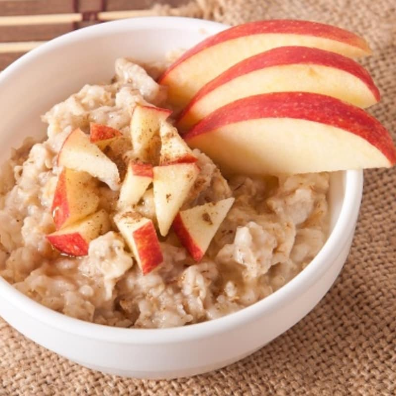 Oats with muesli and fruit
