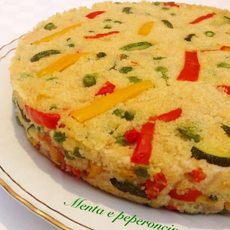 pastel de cuscús con verduras