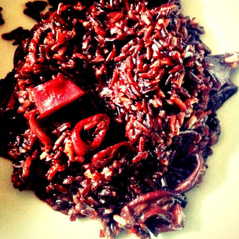 Venus rice with squid