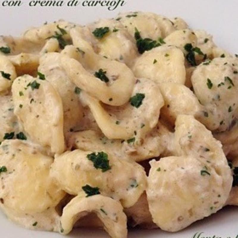 Orecchiette con crema de coliflor