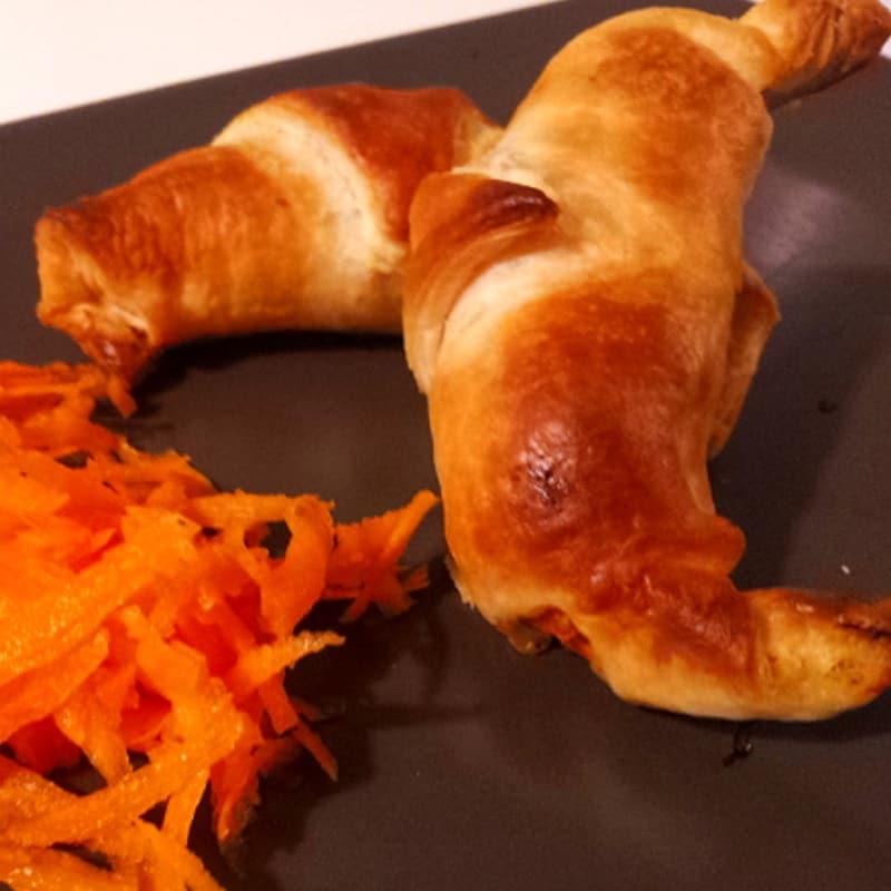 croissants salados con verduras