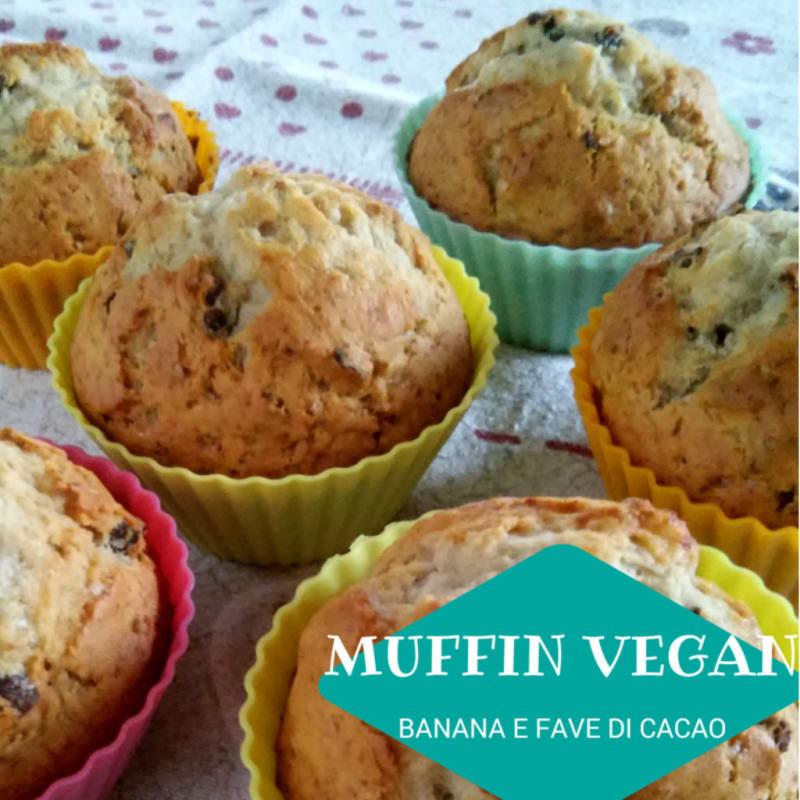Muffin vegan con banane a fave di cacao