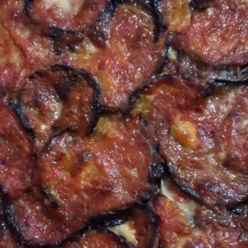 Parmigiana de berenjena ligeramente