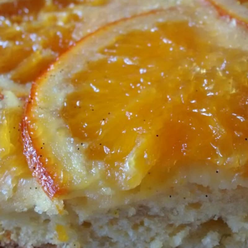 naranja pastel de caramelo