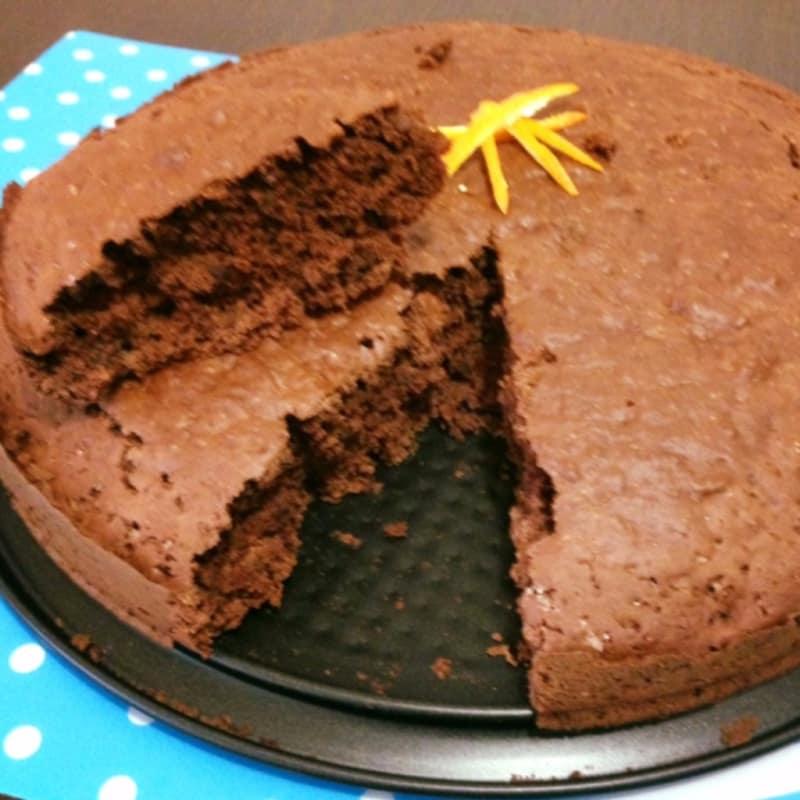 Torta de cacao, naranja, jengibre