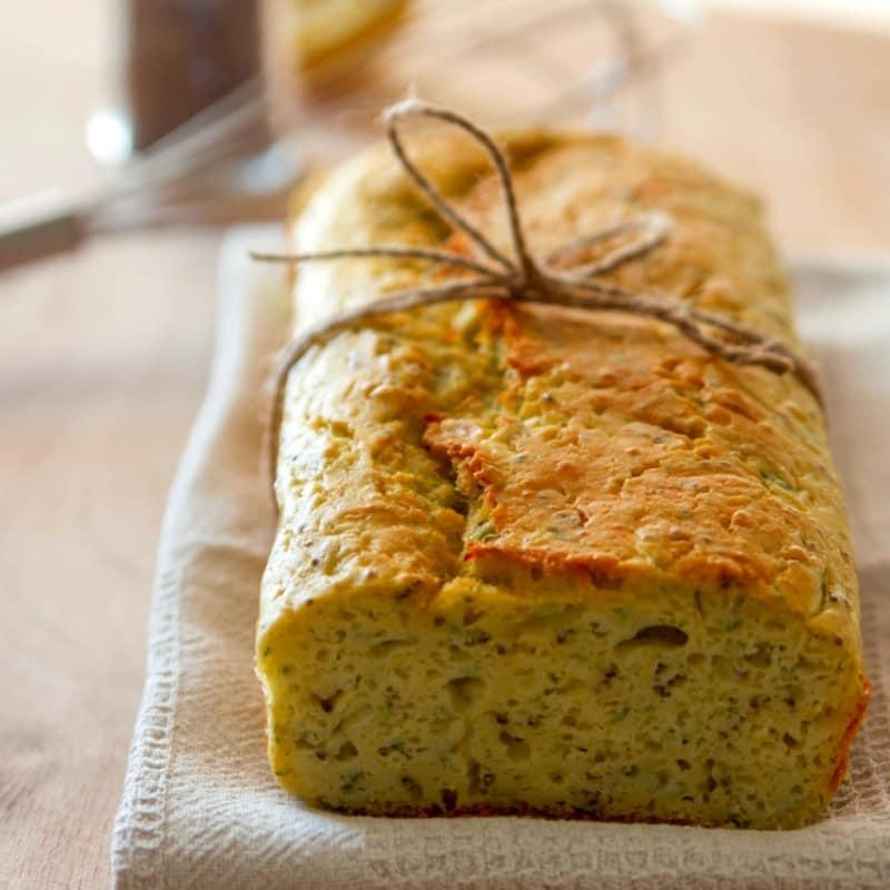 Plumcake con el calabacín y semillas de chía