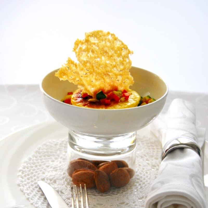 Sformatini di parmigiano reggiano alle mandorle