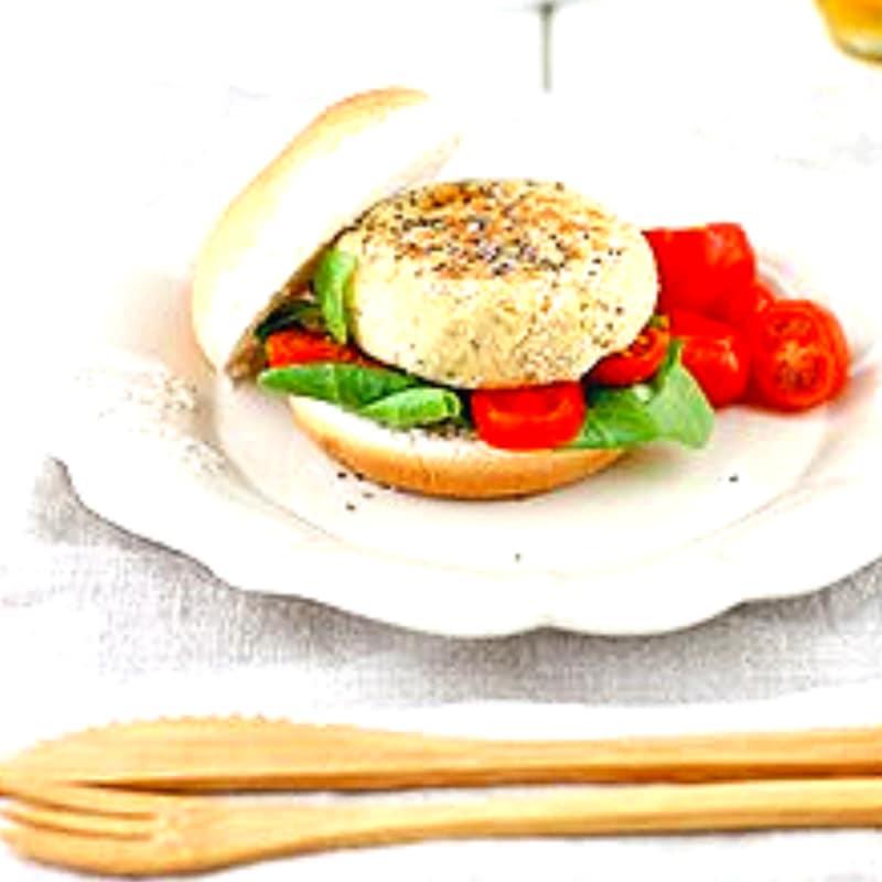 garbanzos hamburguesa con semillas de chía