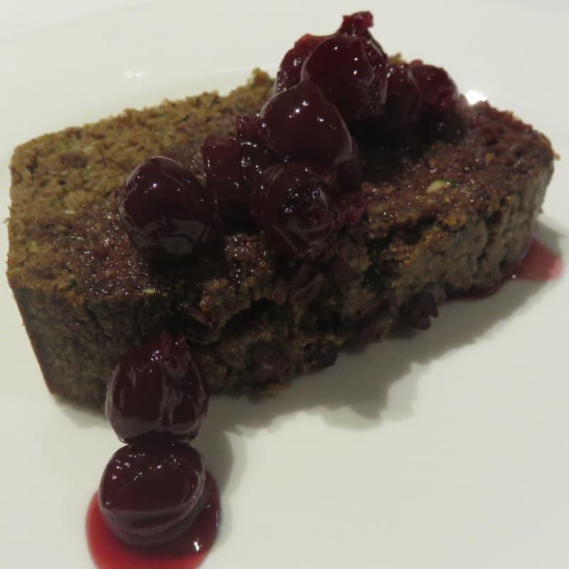 el chocolate y calabacín plumcake
