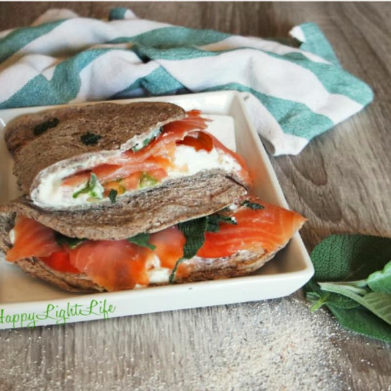 Piadina recipe for buckwheat and sage
