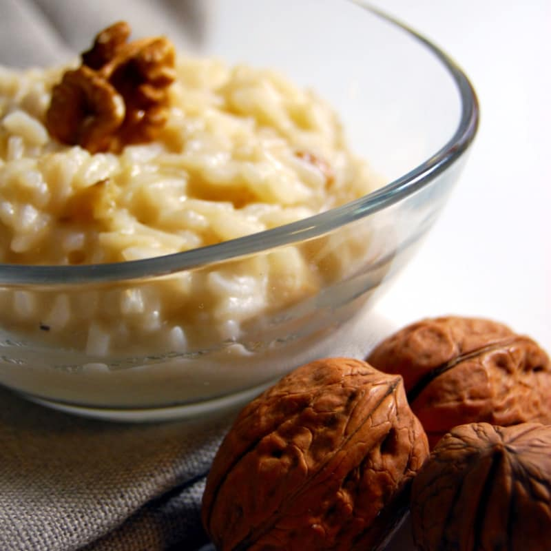 Risotto con nueces y mascarpone