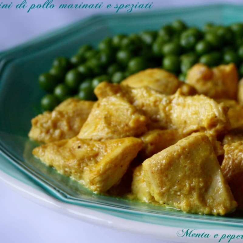Recipe chicken pieces marinated and spiced