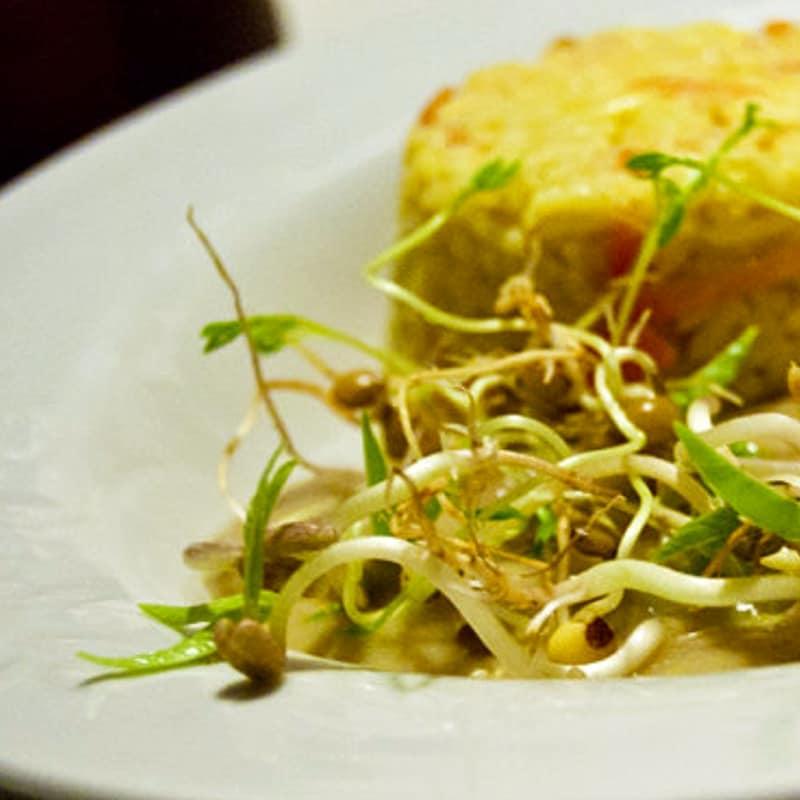 Dahal con tortino di riso basmati