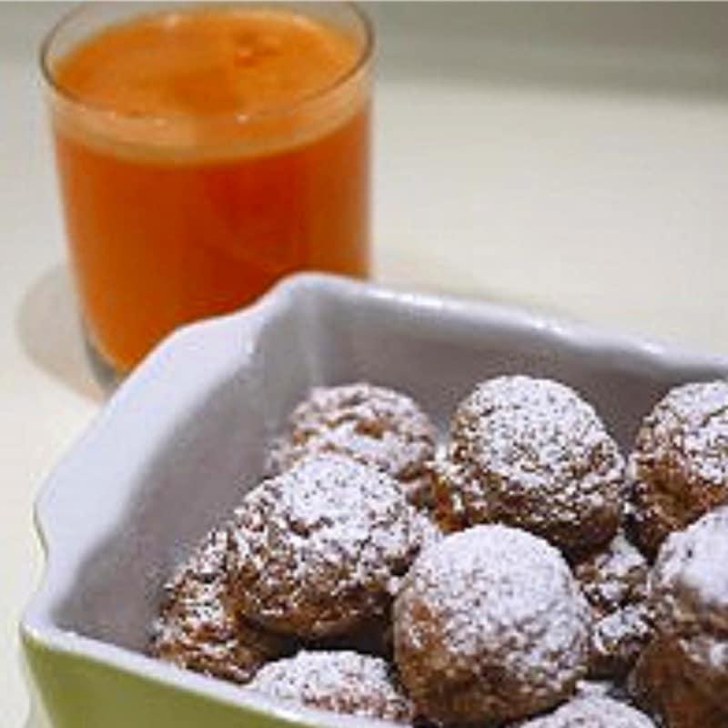 Extracto de zanahorias y manzanas con residuos galletas 0