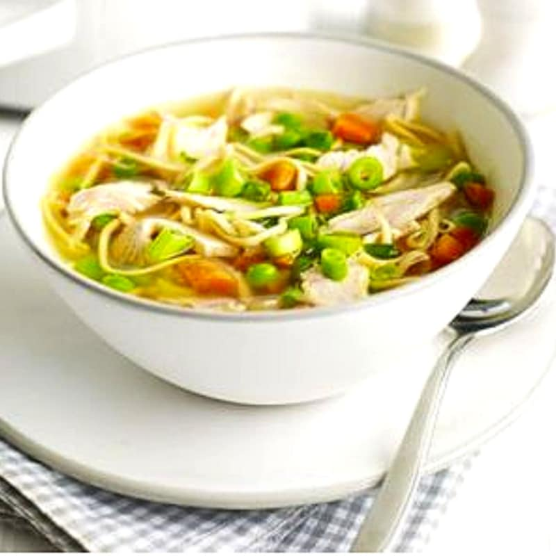 Soup noodles and turkey