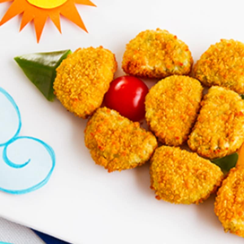 Spaceship of chicken nuggets