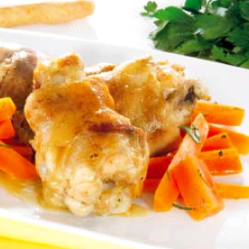 Pierna de pollo con salsa de Marsala