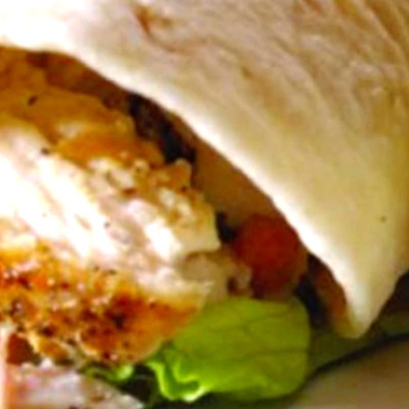Wrap sandwich con cotoletta e verdure