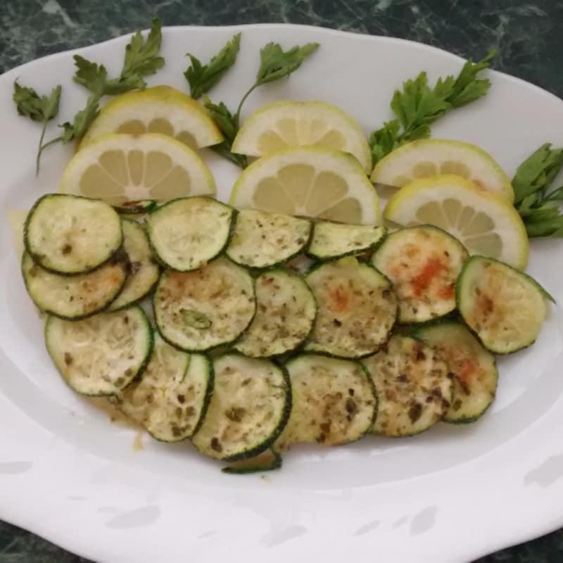 calabacín filete de pescado con costra