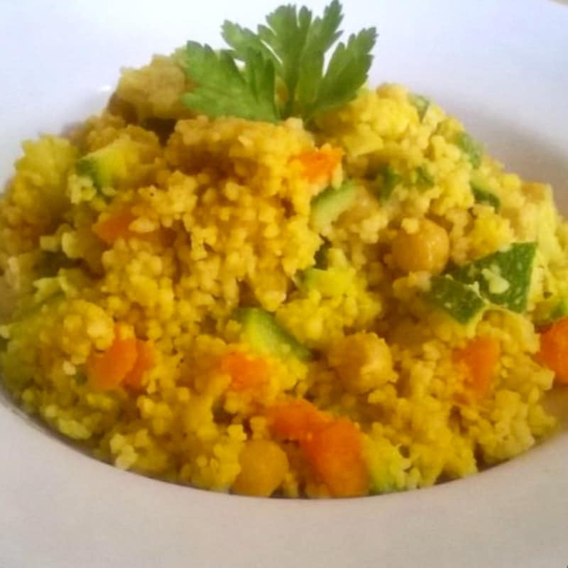 Cous cous with turmeric