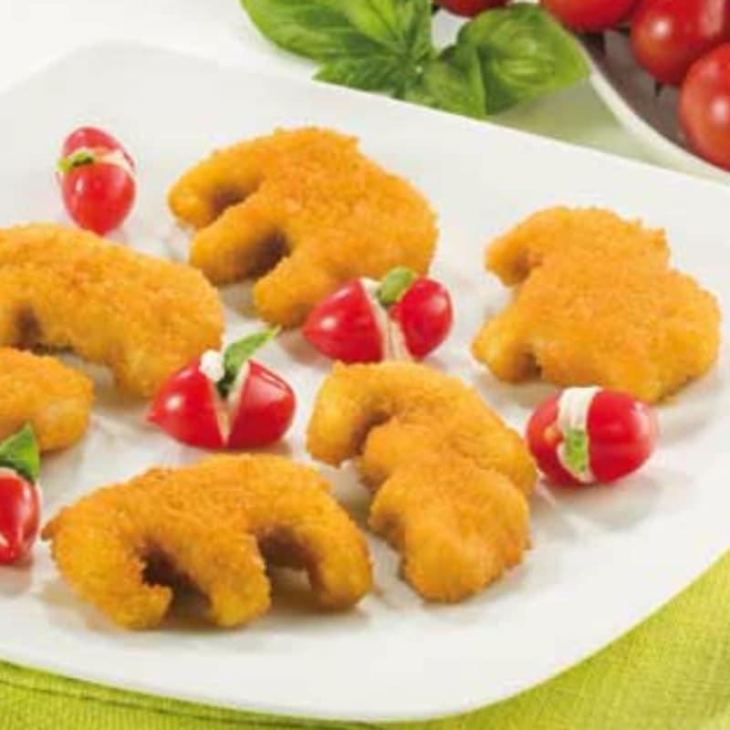 chuletas de pollo y tomates rellenos