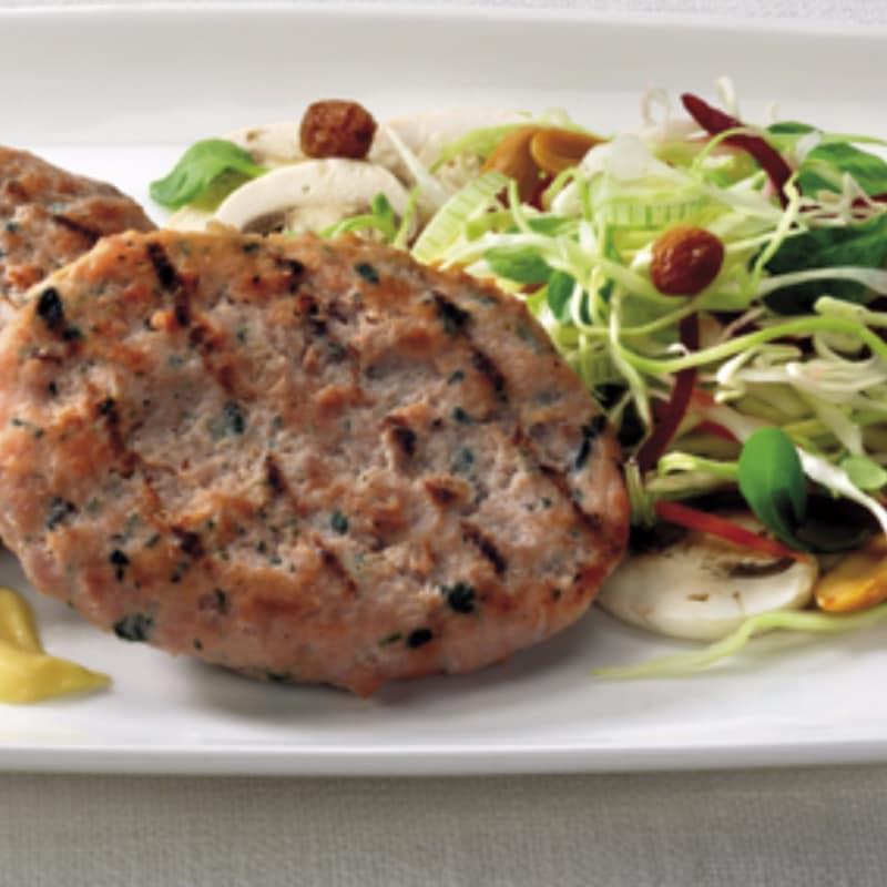 Hamburger con insalata agrodolce