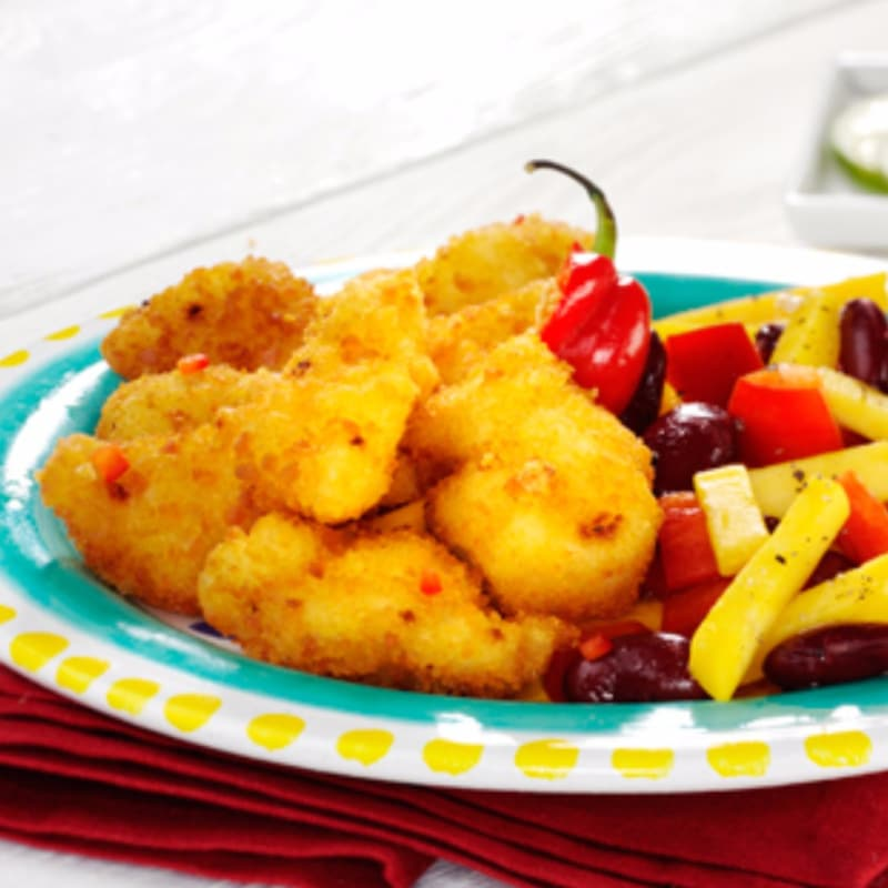 Crujiente de pollo con verduras