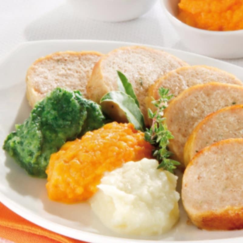 Pastel de carne con puré tricolore