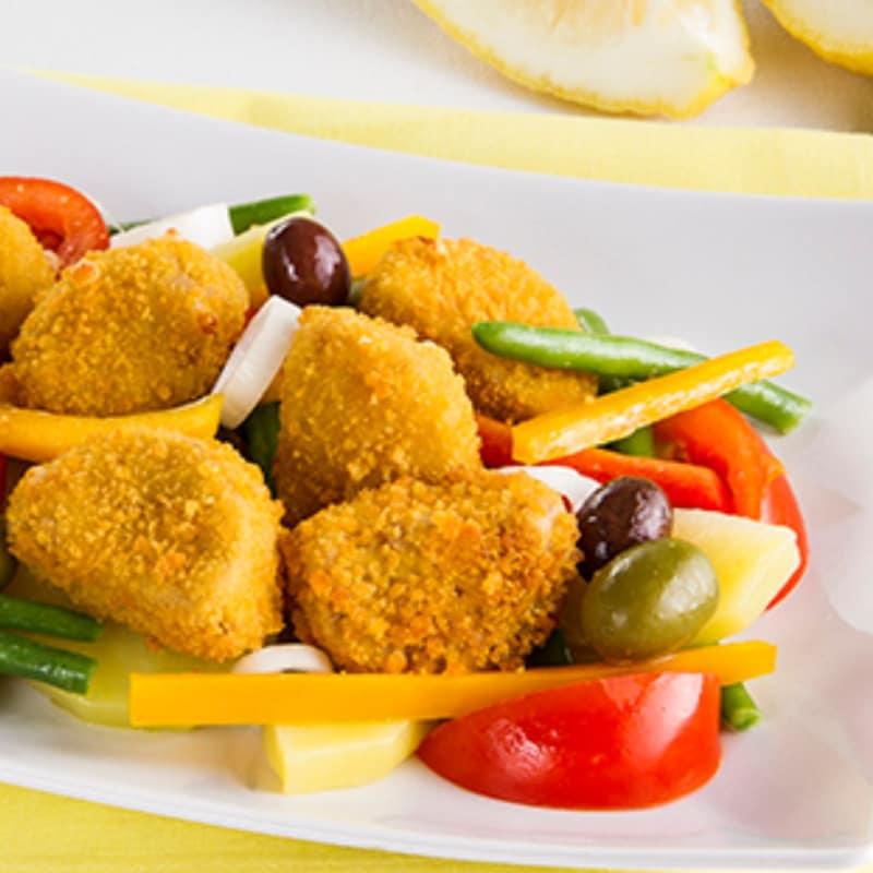 Nicoise con nuggets de pollo