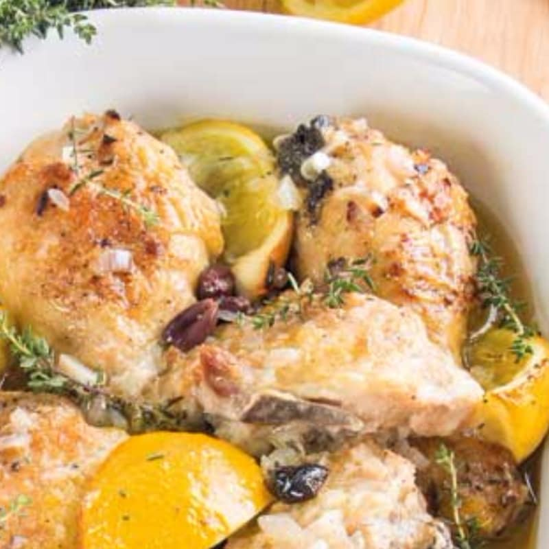 Pollo limone e olive