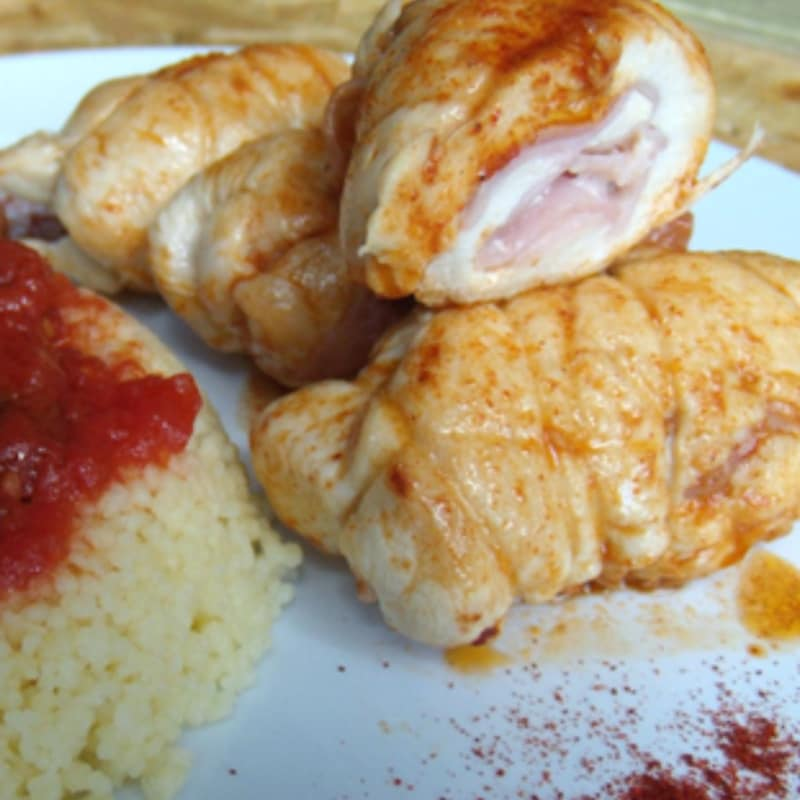 Involtini di pollo e couscous