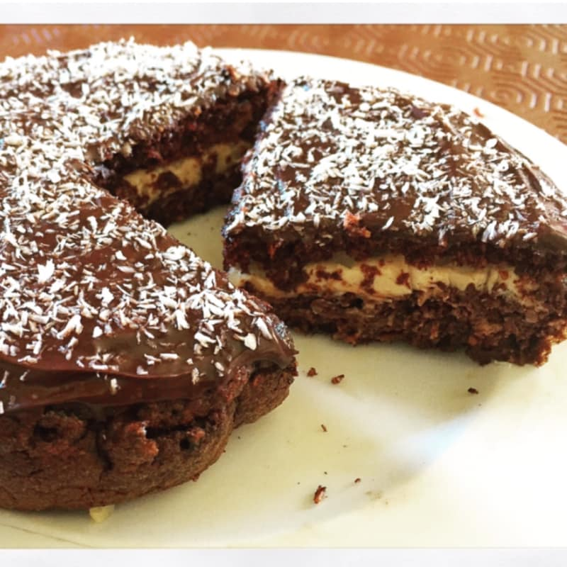 Tortitas con chocolate y coco