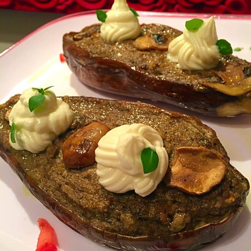 Barchette eggplant with mushroom flavor