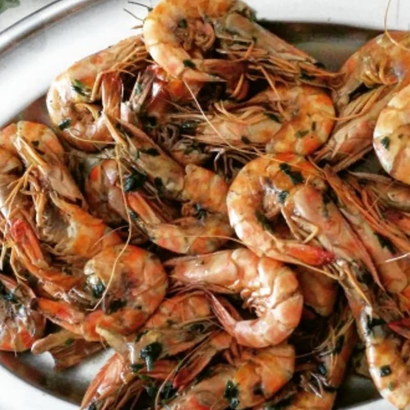 King prawns in brandy
