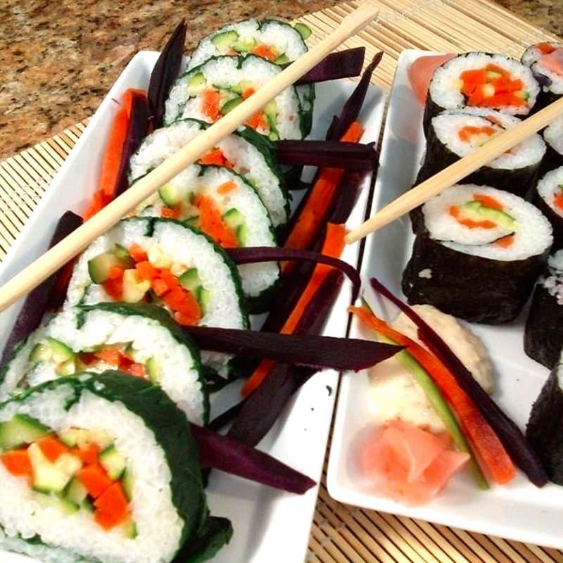 Las fantasías de sushi de pescado