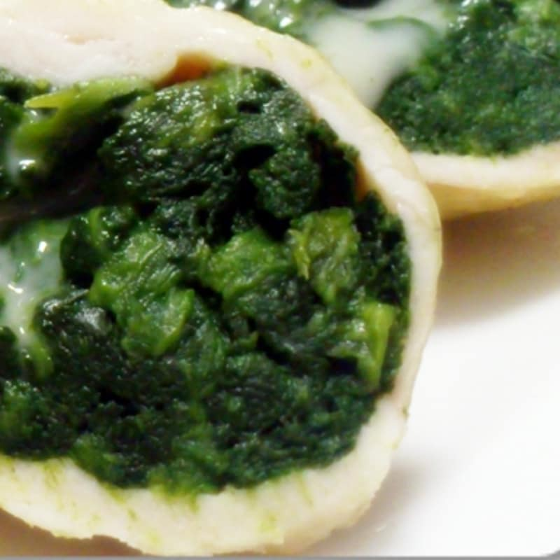 Roll chicken and spinach