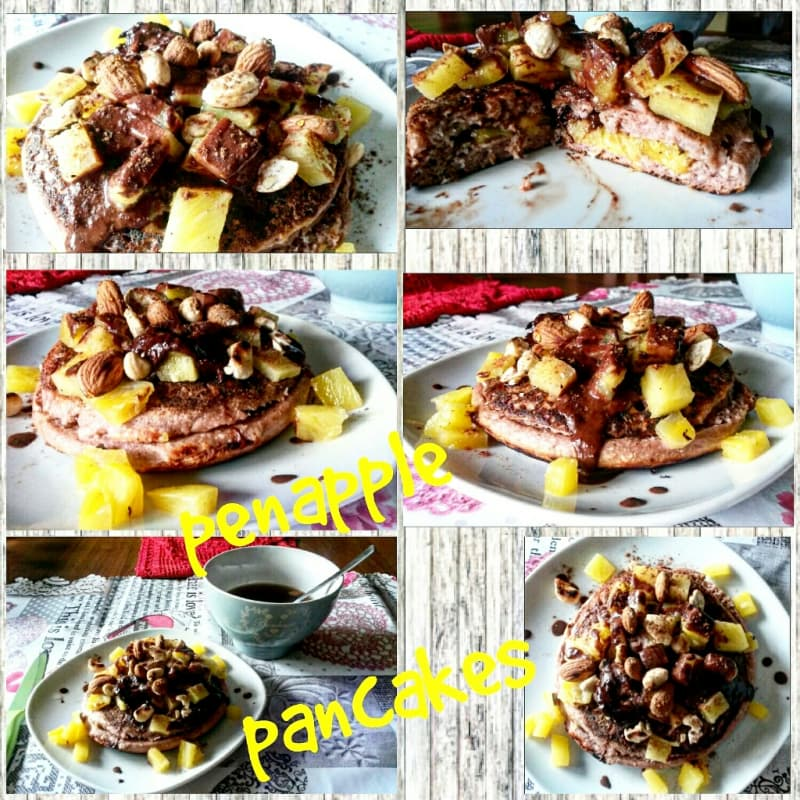 Pineapple pancake con cocco