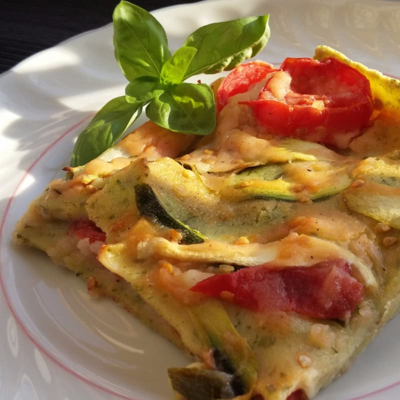 vegetariana lasaña verde sin gluten y sin leche