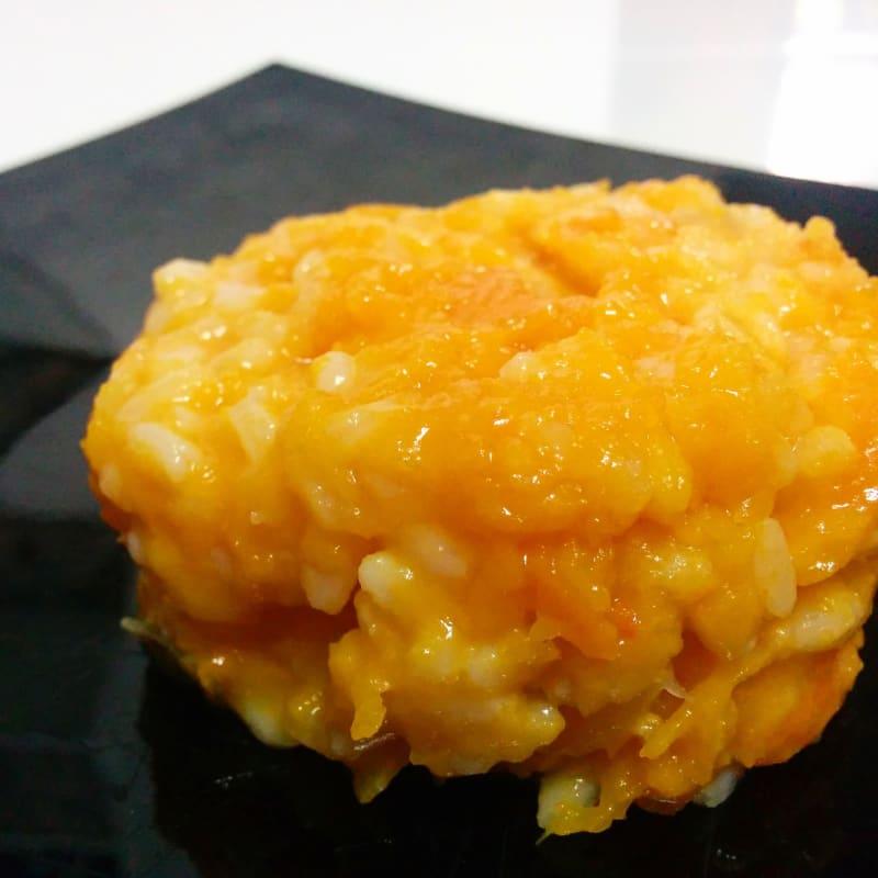 Risotto con calabaza y queso gorgonzola