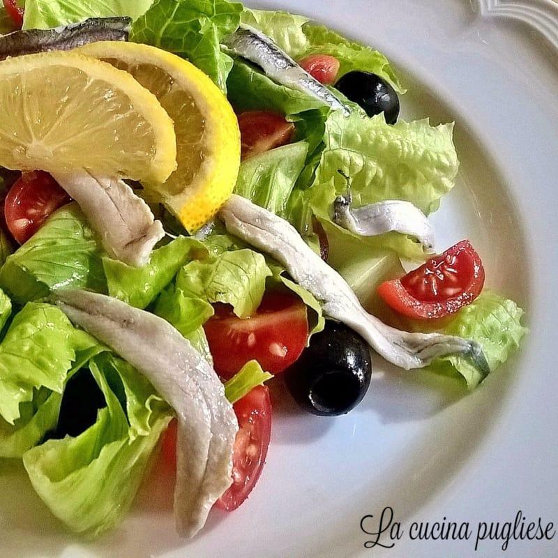 Ensalada de anchoas marinadas