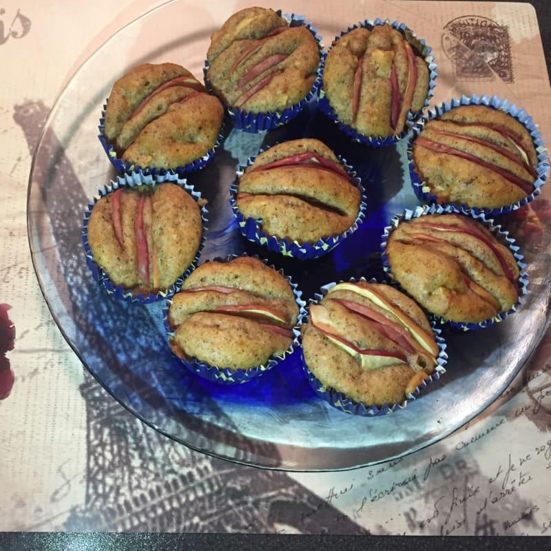 muffin de manzana entera