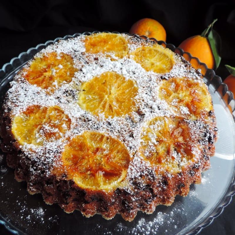 Torta rovesciata all'arancia per natale