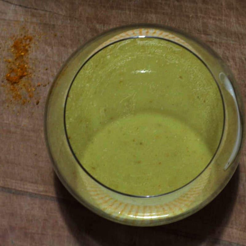 Crema de leche de coco al curry