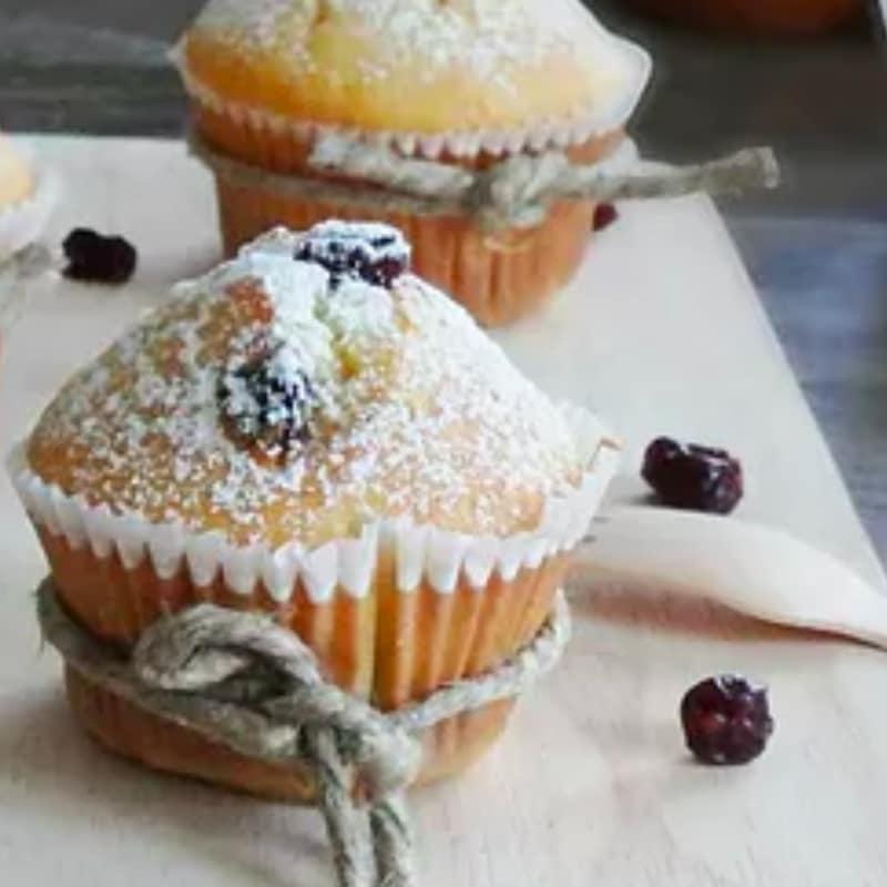 Muffin con mirtilli disidratati