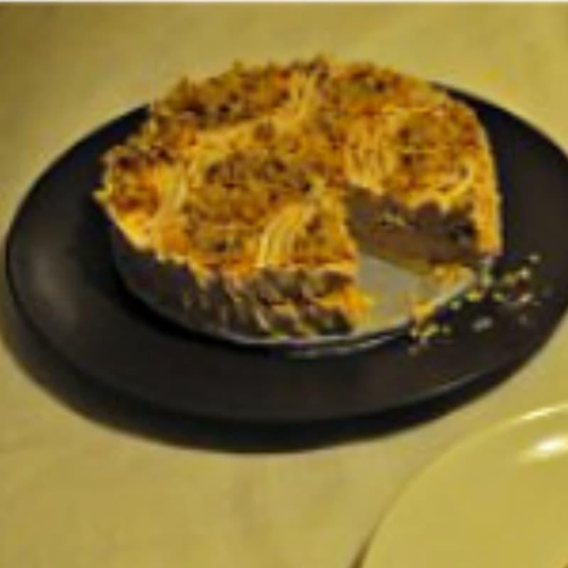 Tarta de queso con crema de avellana gluten y huevos